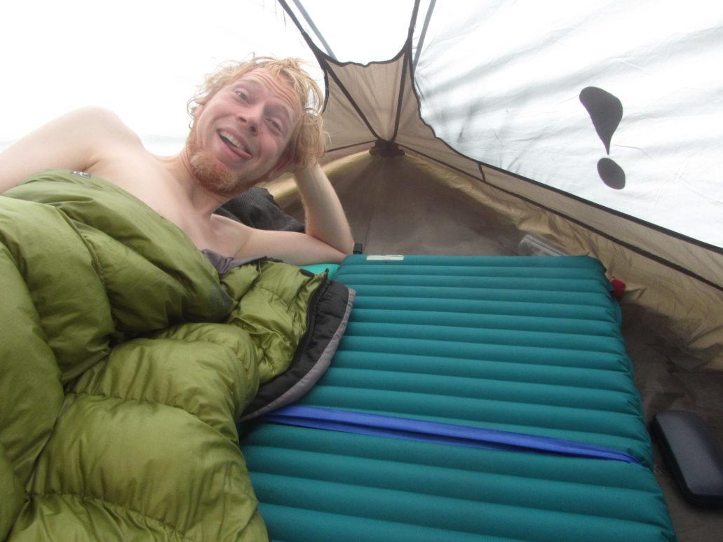 sleeping bag and air pad